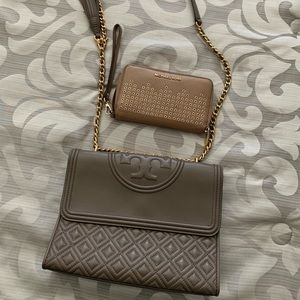 Tory Burch leather cross body and MK wallet